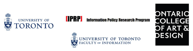 University of Toronto, Faculty of Information, IPRP, and OCAD U logos